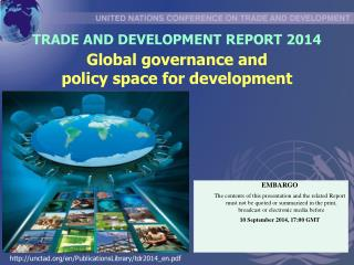 TRADE AND DEVELOPMENT REPORT 2014