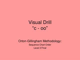 "Visual Drill  ""c - oo"""
