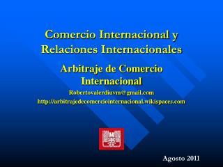 Comercio Internacional y Relaciones Internacionales
