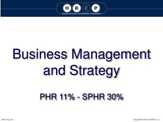 Business Management and Strategy