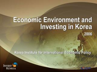 Economic Environment and Investing in Korea