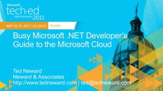 Busy Microsoft .NET Developer's Guide to the Microsoft Cloud
