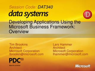 Developing Applications Using the Microsoft Business Framework: Overview