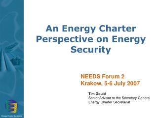An Energy Charter Perspective on Energy Security