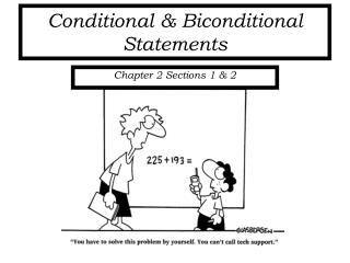 Conditional & Biconditional Statements