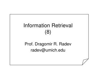 Information Retrieval (8)