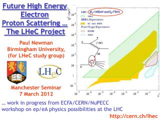 Future High  Energy  Electron Proton Scattering …   The  LHeC  Project