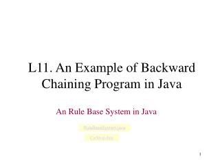 L11. An Example of Backward Chaining Program in Java
