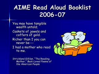 AIME Read Aloud Booklist  2006-07