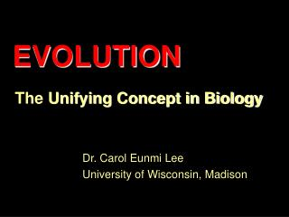 The  Unifying Concept in Biology
