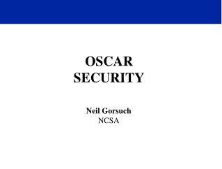 OSCAR SECURITY
