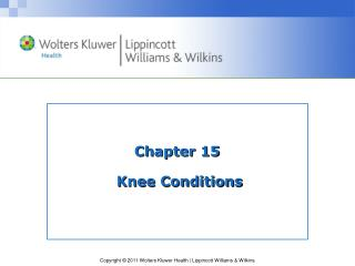 Chapter 15  Knee Conditions