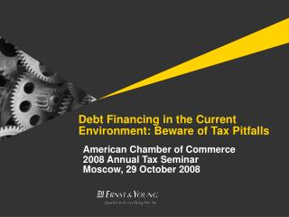 Debt Financing in the Current Environment: Beware of Tax Pitfalls