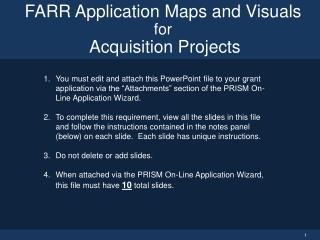 FARR Application Maps and Visuals for Acquisition Projects