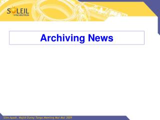 Archiving News