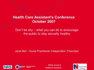 Health Care Assistant's Conference October 2007