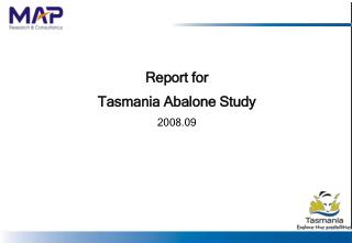 Report for  Tasmania Abalone Study  2008.09