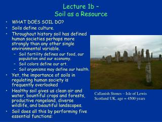Lecture 1b – Soil as a Resource