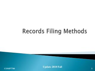 Records Filing Methods
