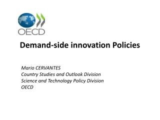 Demand-side innovation Policies