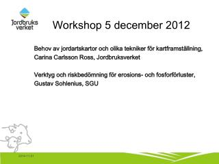 Workshop 5 december 2012