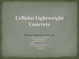 Cellular Lightweight Concrete