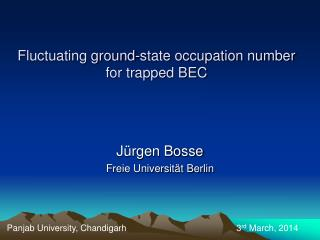 Fluctuating ground-state occupation number for trapped BEC
