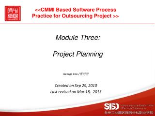 Module Three: Project Planning