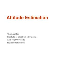 Attitude Estimation