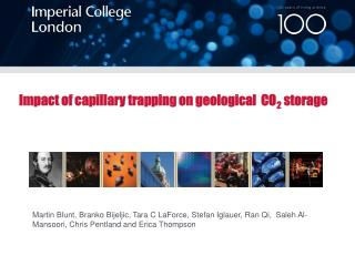 Impact of capillary trapping on geological  CO 2  storage