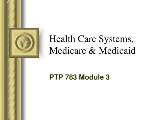 Health Care Systems, Medicare & Medicaid