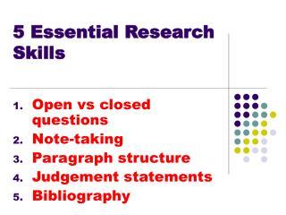 5 Essential Research Skills
