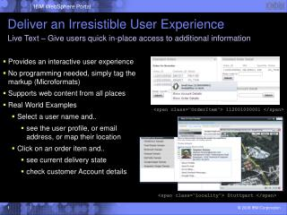 Deliver an Irresistible User Experience