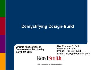 Demystifying Design-Build