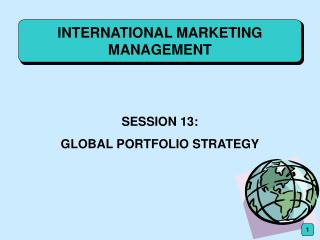 INTERNATIONAL MARKETING MANAGEMENT