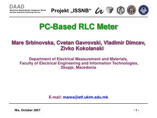 PC-Based RLC Meter