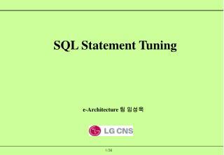 SQL Statement Tuning