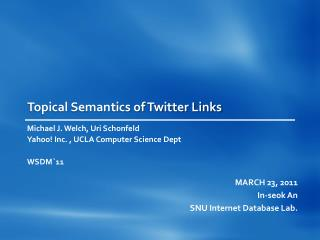 Topical Semantics of Twitter Links