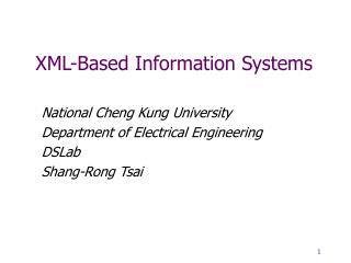 XML-Based Information Systems