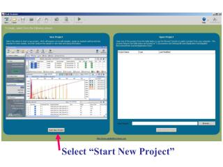"Select ""Start New Project"""