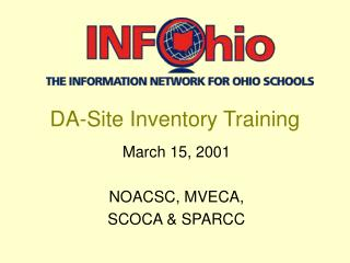 DA-Site Inventory Training