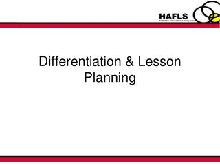 Differentiation & Lesson Planning