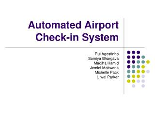 Automated Airport  Check-in System