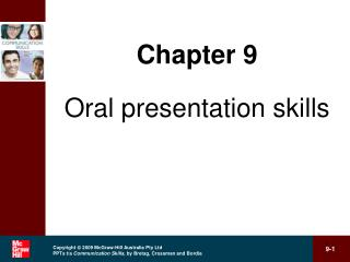 Chapter 9 Oral presentation skills