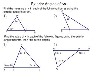 Exterior Angles of  s
