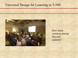 Universal Design for Learning in T-560