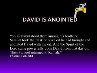 David is Anointed