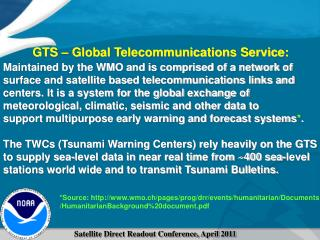 GTS – Global Telecommunications Service: