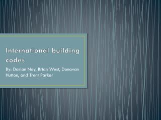 International building codes