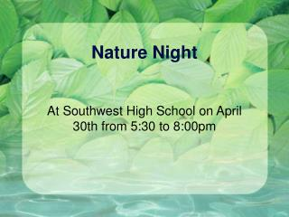 Nature Night